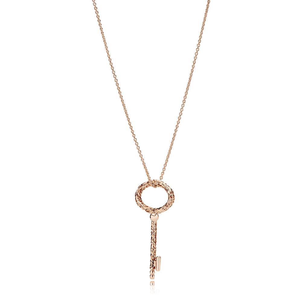 Pandora Rose Key Pendant Necklace Argento