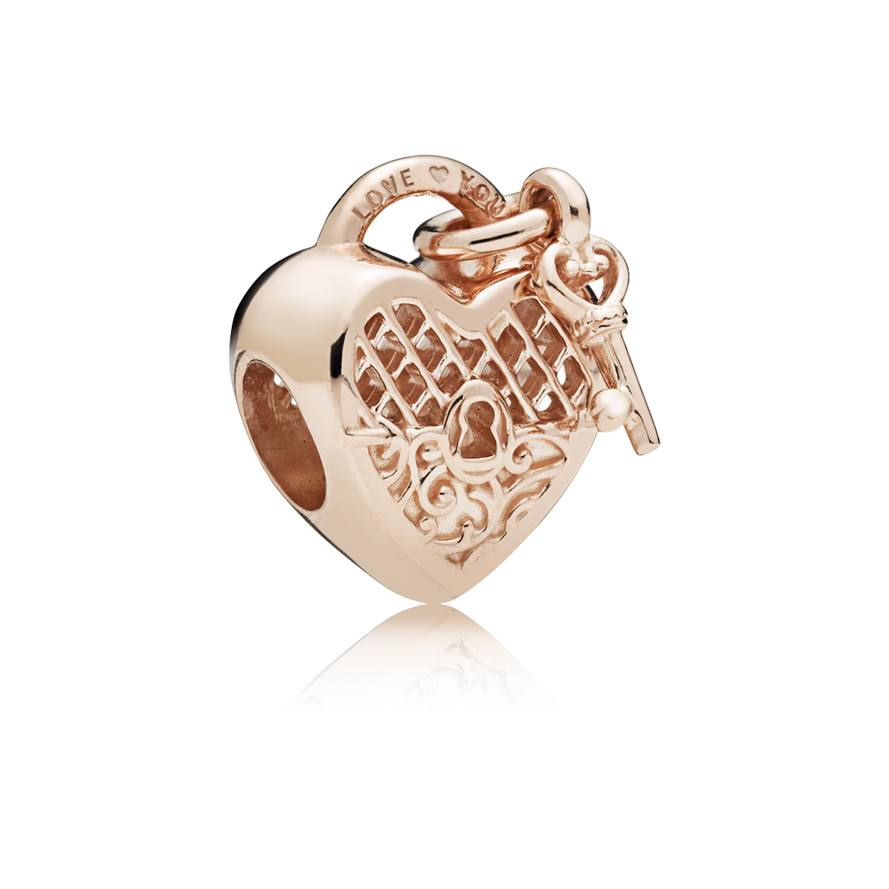Pandora Rose Love Lock Regal Charm Argento