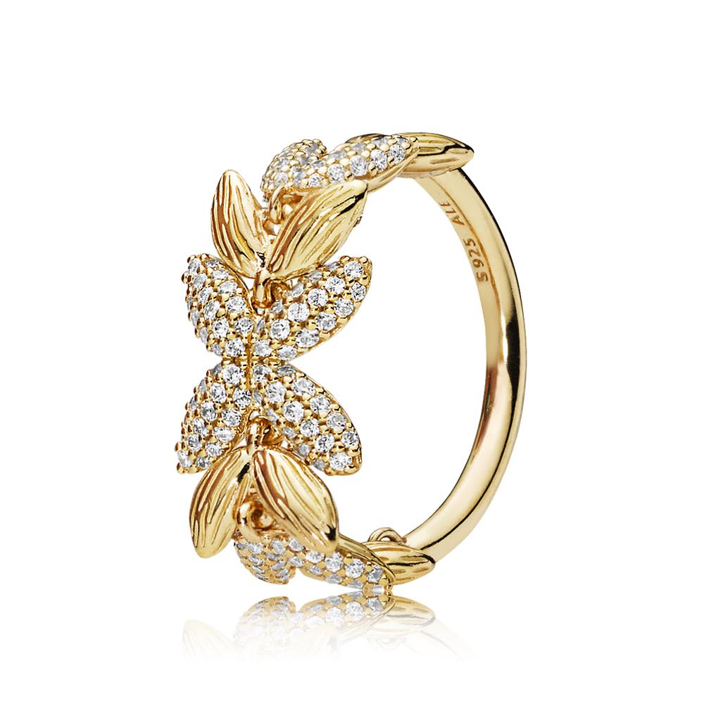 Pandora Shine Grains CZ Ring Argento