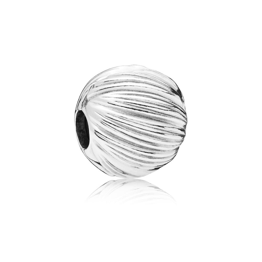 PANDORA Silver Grain Textured Clip Argento