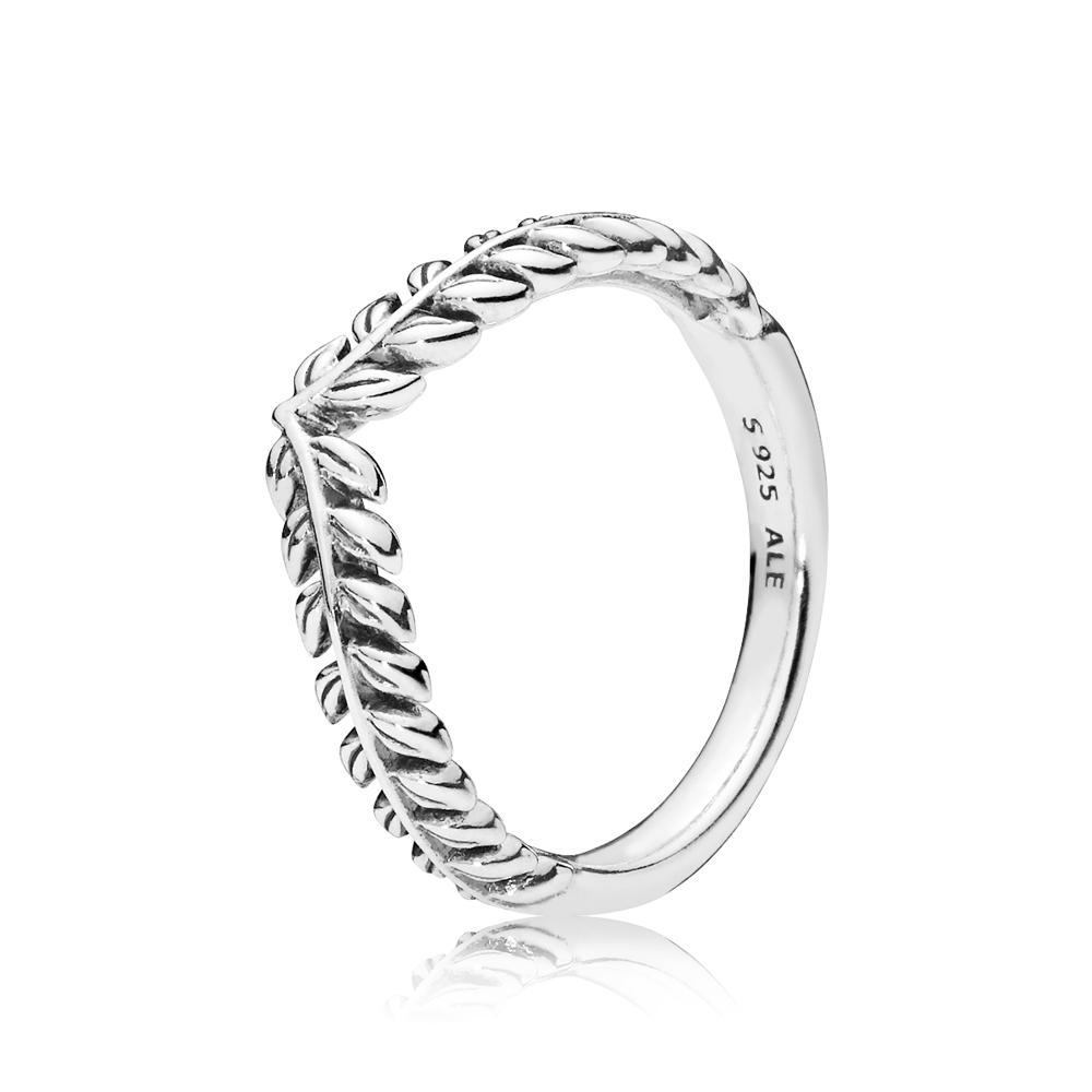 PANDORA Silver Grain Wishbone Ring Argento