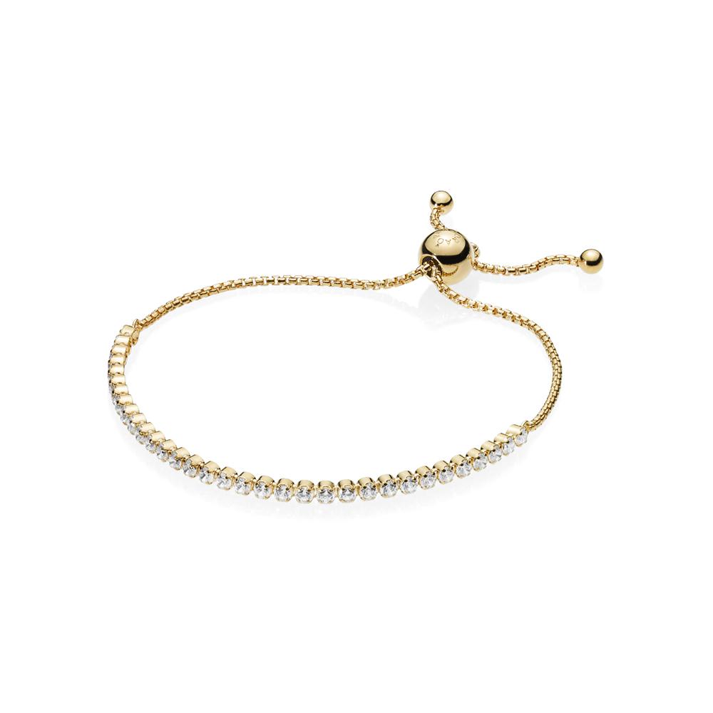 PANDORA Shine Sparkling Strand Bracelet Argento