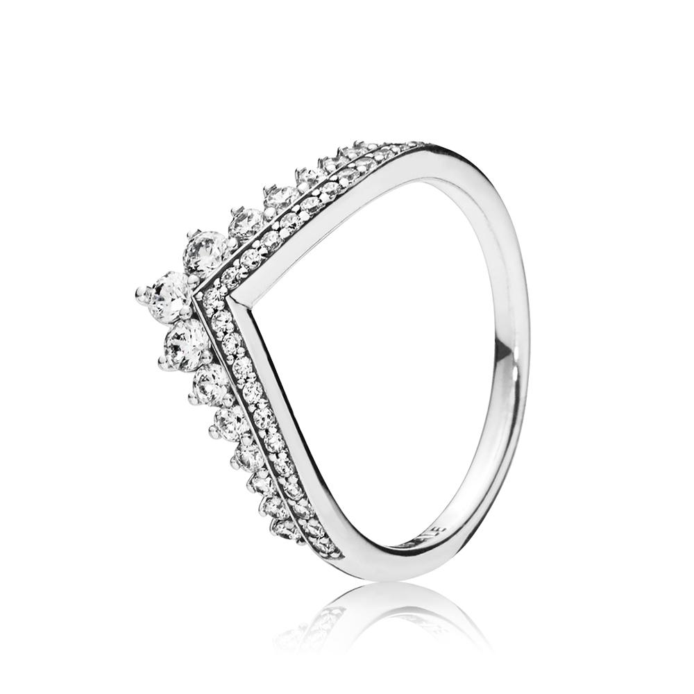 PANDORA Silver Princess Wish Ring Argento