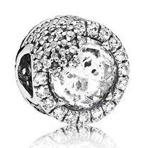 PANDORA Snowflake Christmas Charm argento