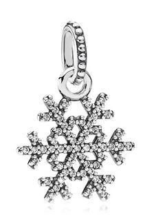 PANDORA Snowflake Pendant Christmas Charm