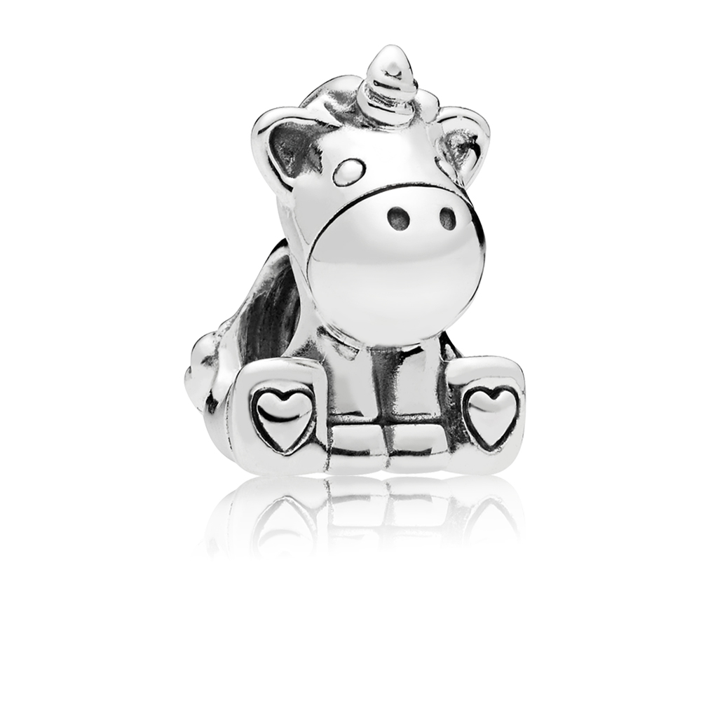 PANDORA Silver Unicorn Charm Argento