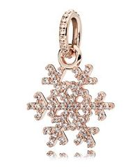 PANDORA Rose Snowflake Pendant Christmas Charm