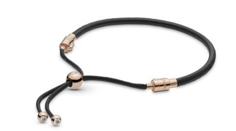 Pandora Black Leather Moments Bracelet