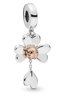 Pandora Clover Ladybird Charm