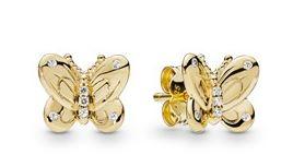 Pandora Shine Gold Butterfly Earrings
