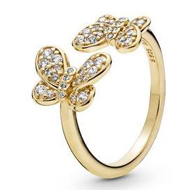 Pandora Shine Gold Butterfly Ring