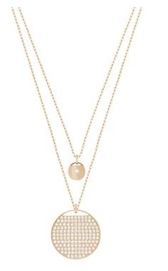 Swarovski Ginger Gold Layer Necklace