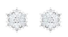 Swarovski Snowflake Earrings Christmas argento