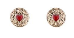 Ted Baker Biscuit Button Earrings