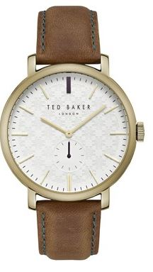 Ted Baker Gold Tan Trent Watch Argento