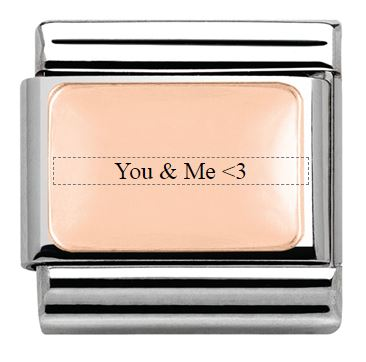 You & Me Nomination Engrave Charm