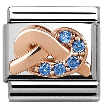 Nomination Mother Son Blue Charm Christmas Argento