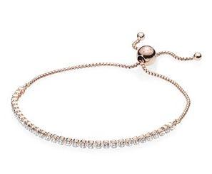 PANDORA Rose Sparkling Strand Bracelet Argento Mum