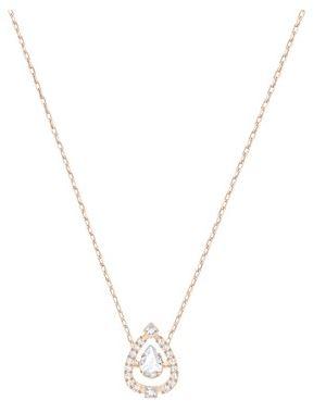Swarovski Sparkling Dance Rose Gold Necklace Christmas Argento