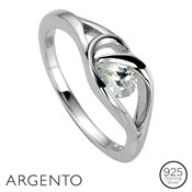 Argento Loop Cubic Zirconia Ring