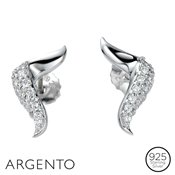 Argento Cubic Zirconia Twist Earrings