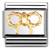 Nomination Elegance Gold Bow Charm