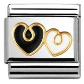 Nomination Elegance Double Heart Charm
