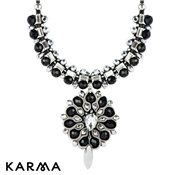 Karma Black Statement Crystal Necklace