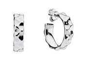 PANDORA Liquid Silver Wave Hoop Earrings