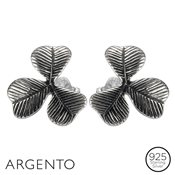Argento Clover Stud Earrings