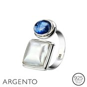 Argento Kyanite & White Mabe Ring