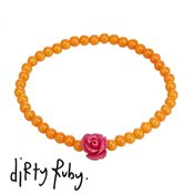 Dirty Ruby Fuchsia Floral Frenzy Rose Bracelet