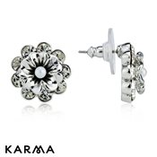 Karma Layered Flower Studs