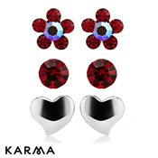 Karma Red Hot Love Studs Trio