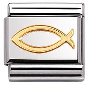 Classic Ichthys (Christian Fish) Charm by Nomination