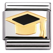 Nomination Black Graduation Hat Charm