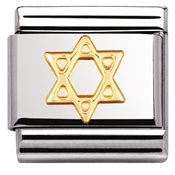 Nomination Star of David Charm