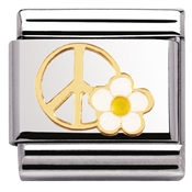 Nomination Peace Flower Charm