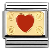 Nomination Red Heart Plaque Charm