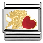 Nomination Cupid With Heart Charm