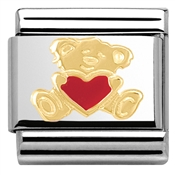 Nomination Bear With Heart Charm