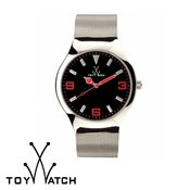 ToyWatch Mesh Silver & Red