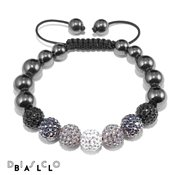 Disco Ball Full Mixed Crystal & Magnetite Bracelet