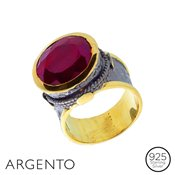 Argento Statement Ruby Corundum Ring