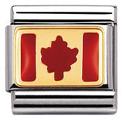 Nomination Canada Flag Charm