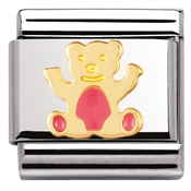 Nomination  Light Pink Teddy Charm