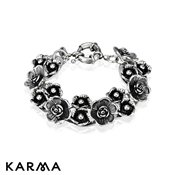 Karma Antique Flowers Bracelet