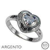 Argento Heart Cubic Zirconia Ring