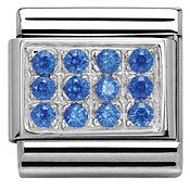 Nomination Blue Cubic Zirconia Plate Charm