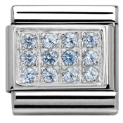 Nomination Light Blue Cubic Zirconia Plate Charm